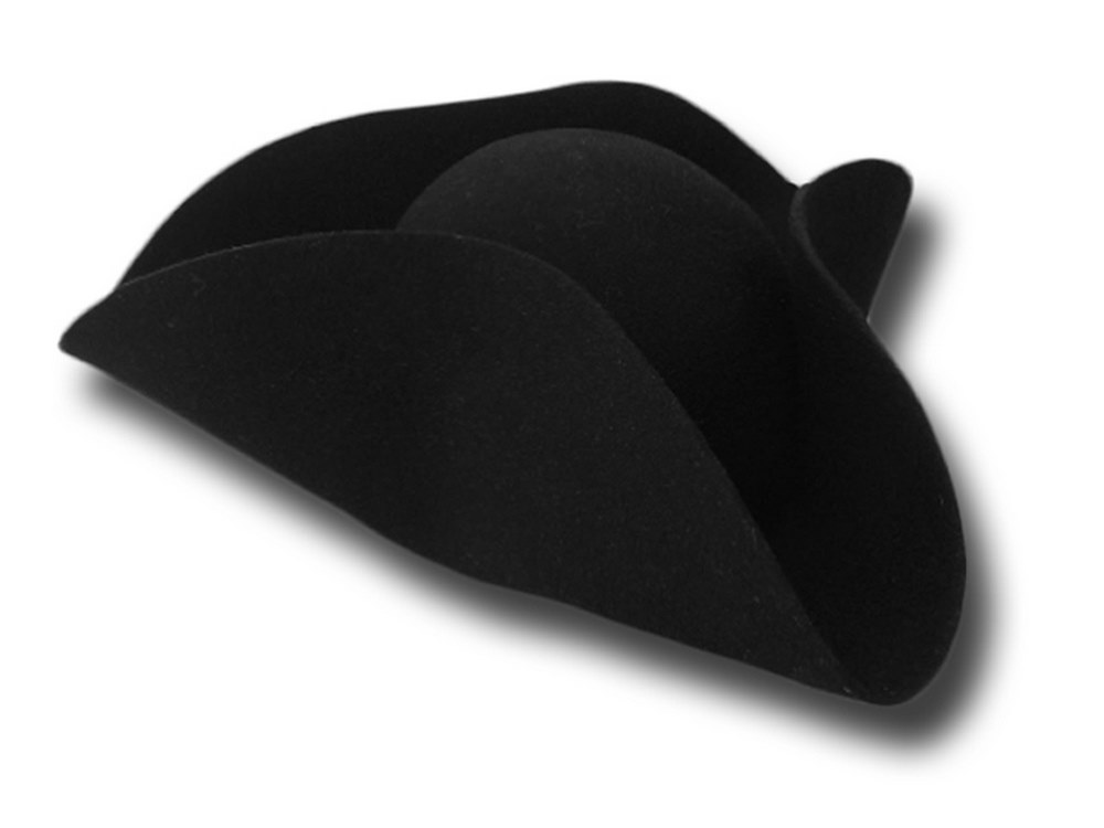 Tricorn wool felt  hat without trim Basic