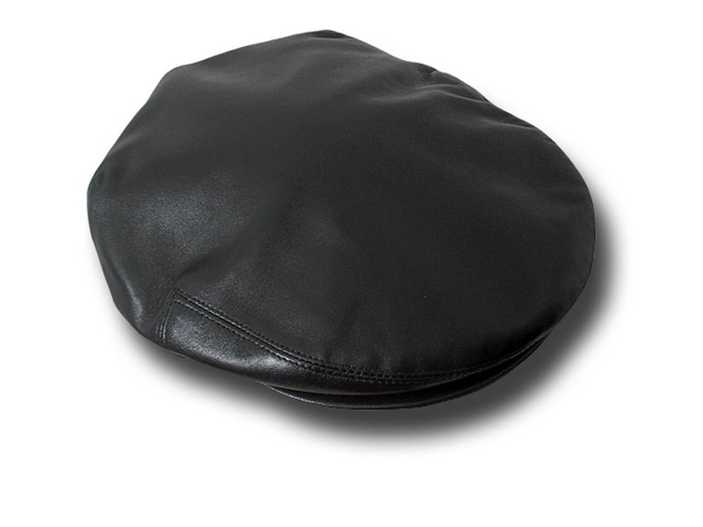 Real Leather flat Starkville cap