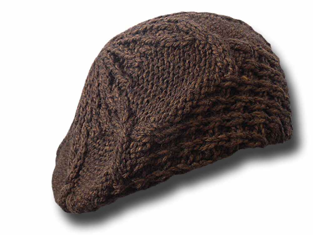 Basque woman's knitted soft floppy hat Isa Bro