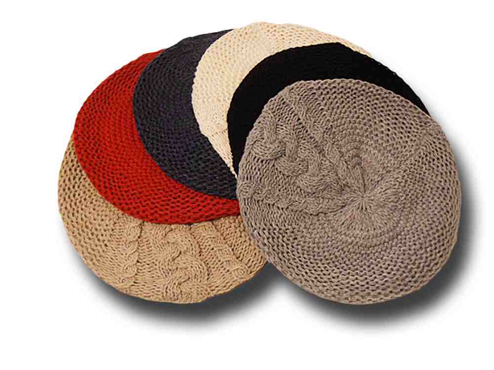 Basque woman's knitted soft floppy hat Vanessa