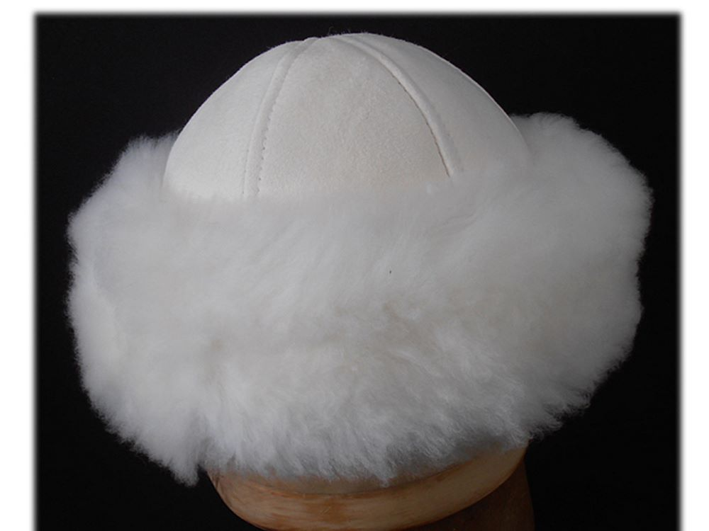 Zarina real sheepskin hat woman Jelena4