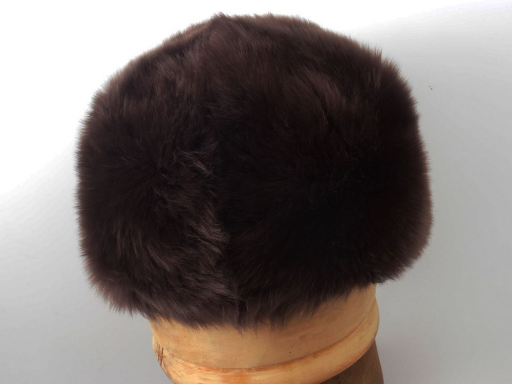 Zarina real sheepskin hat woman color brown