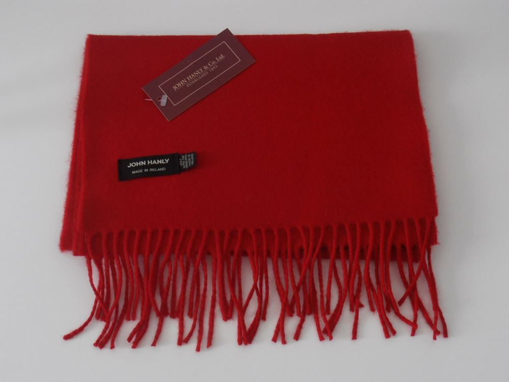 John Hanly Merino wool Irish solid color scarf