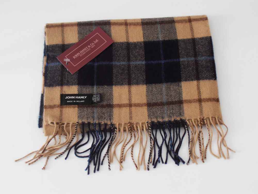 Merino wool Irish tartan scarf J.Hanly 03