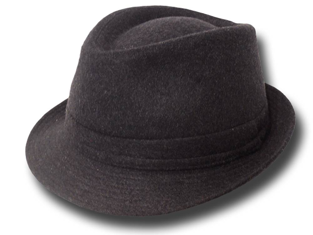 Popular Melegari trilby Hat Dark grey