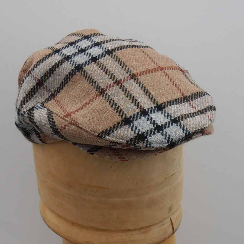John Hanly Irish wolle Flatcap Classic Check