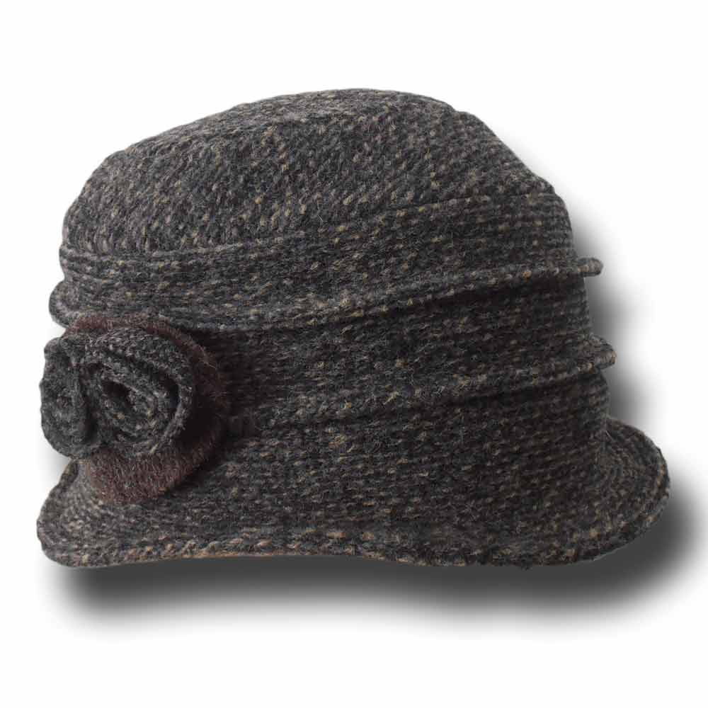 Melegari Cappello cloche in tweed