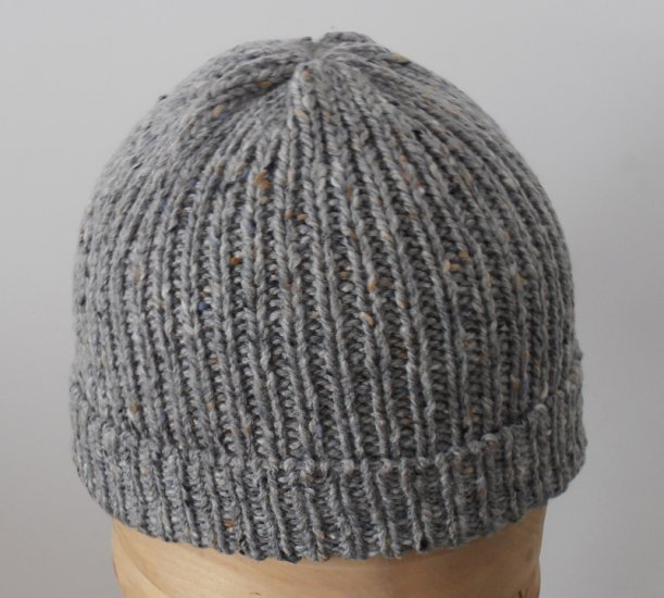 Beanie natural Irish Donegal yarn hat 07