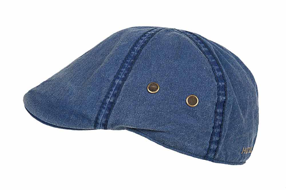 Hatland cotton Flat Cap Rhett blue