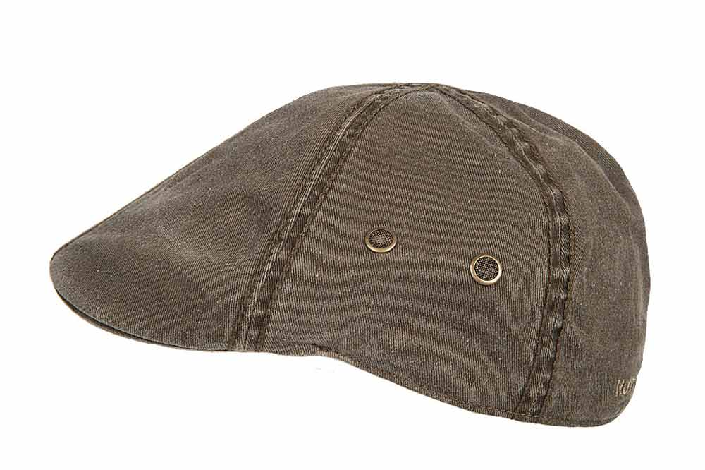 Hatland cotton Flat Cap Rhett olive green