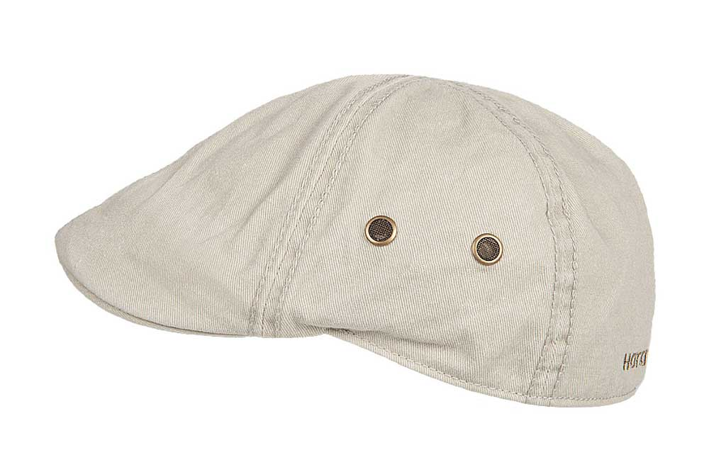 Hatland cotton Flat Cap Rhett cream color