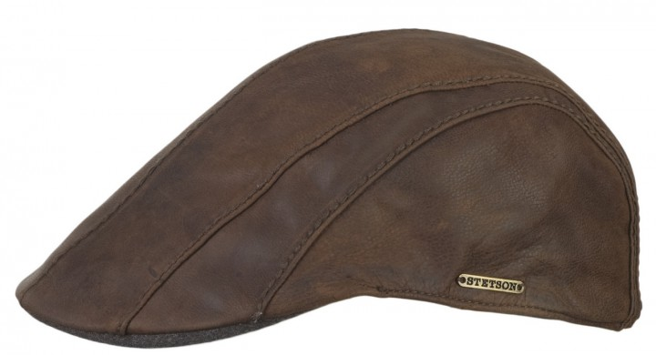 Stetson Michigan-Manatee Goatskin leather cap