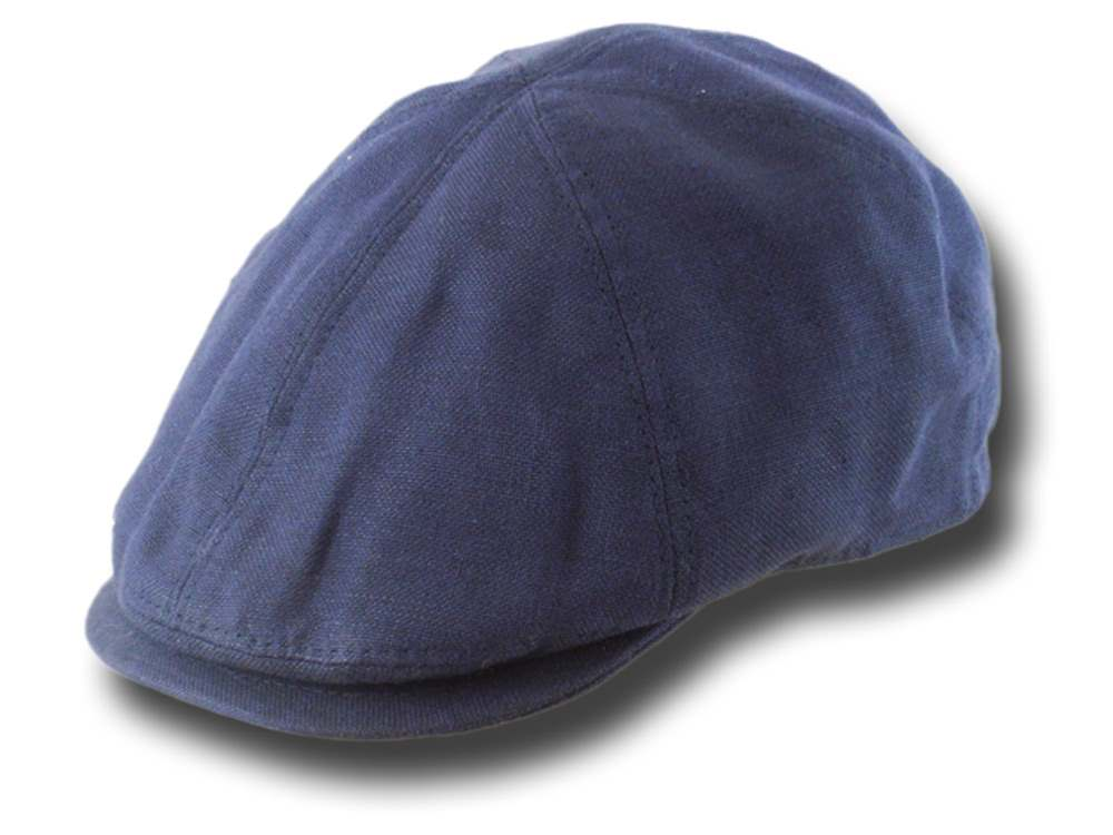 Summer linen Cap Adam Blue