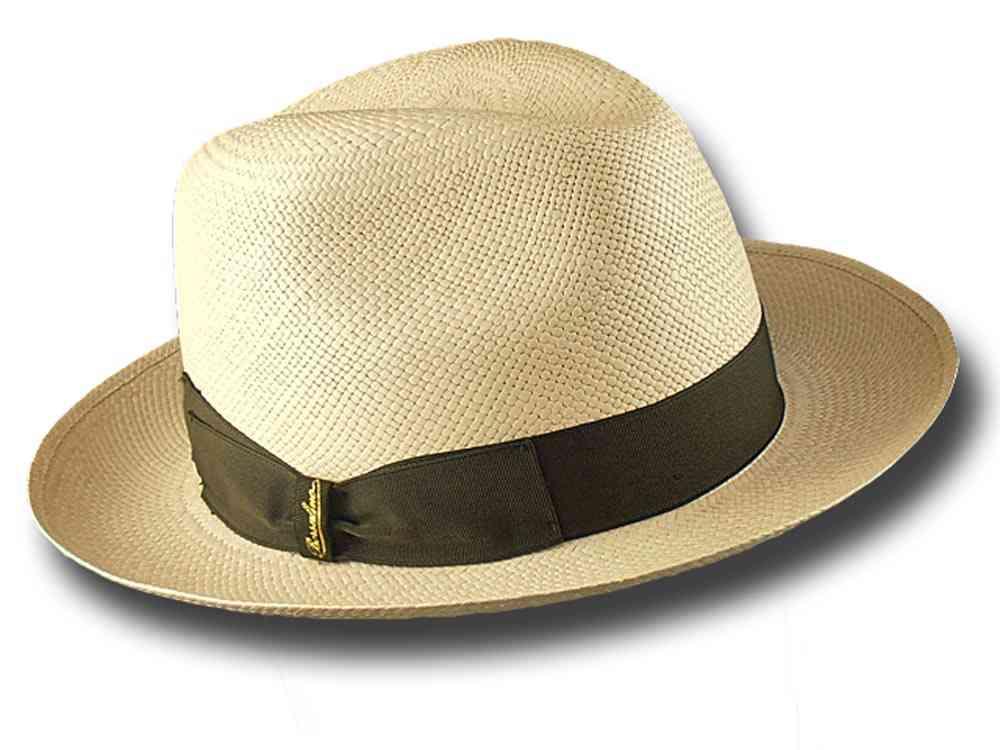 Borsalino Cappello donna 232100 Fedora Panama Quito 6 cm  2321007762 ... 09cd04587ec8