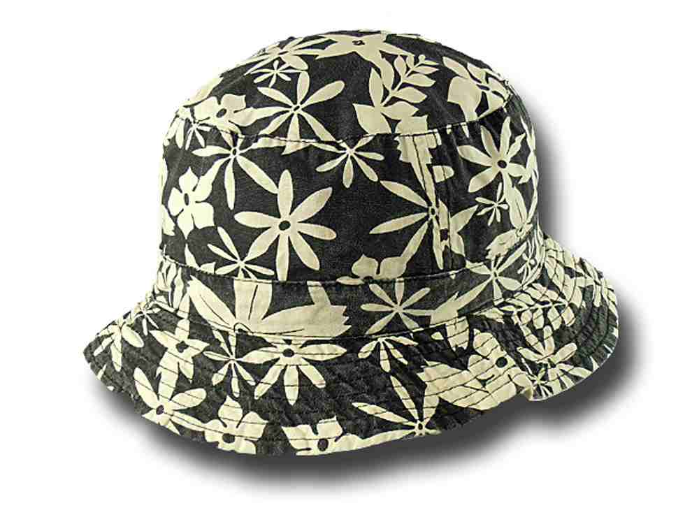 Reversible Flowered Fisherman Hat