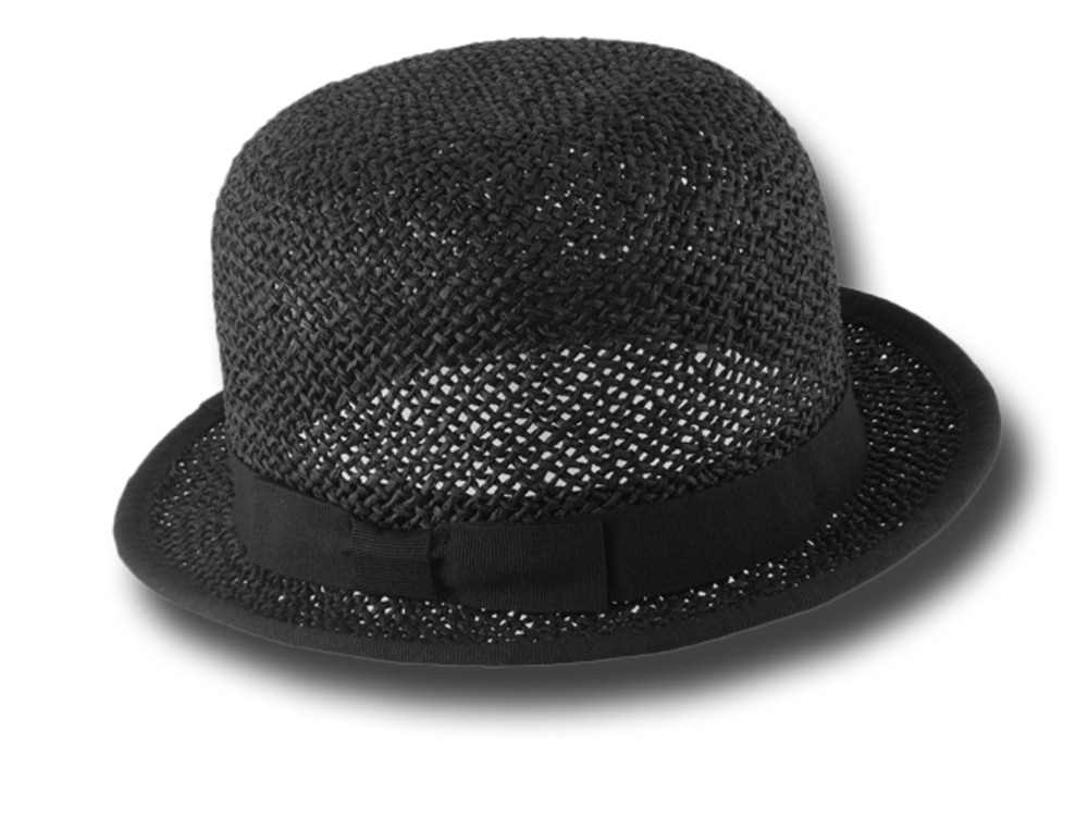 Braided cellulose Bowler hat