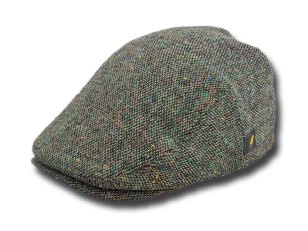 4bfbba302d1 Hatman of Ireland Dubliner tweed flat cap Gree