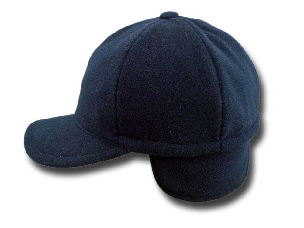 Baseball fleece cap and neck shield