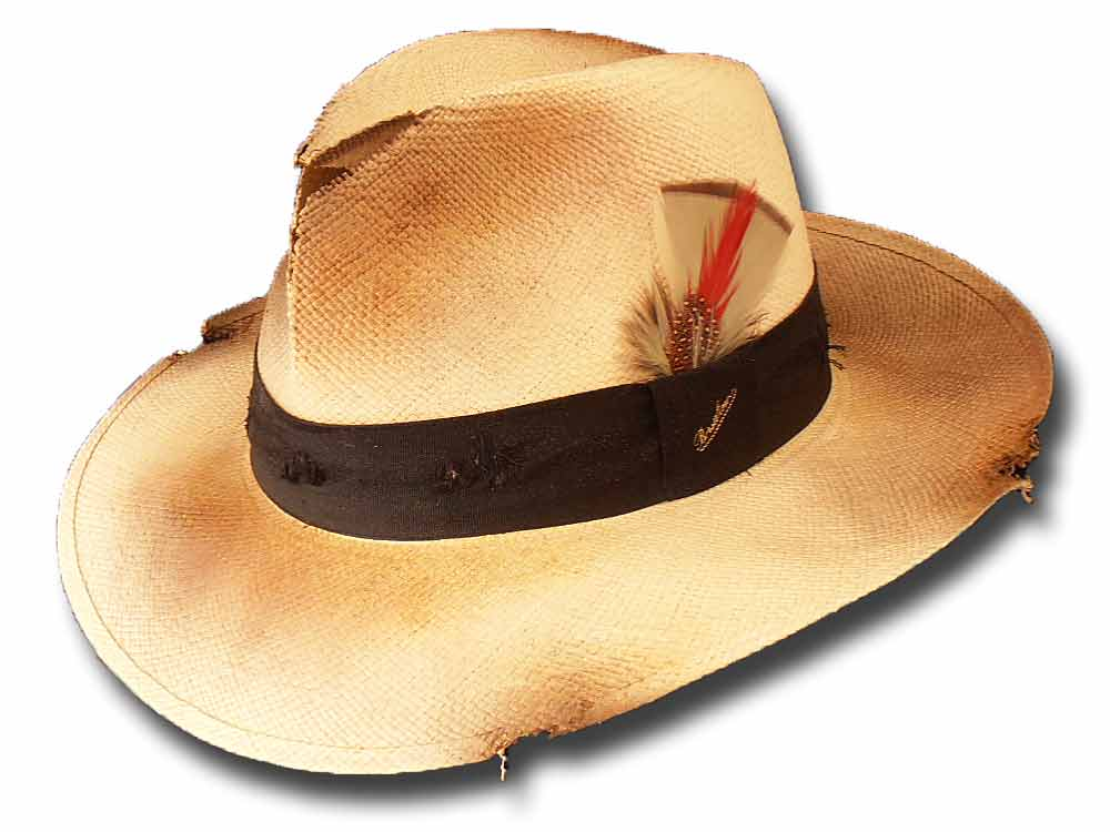 Borsalino fedora Straw paper Dusty hat