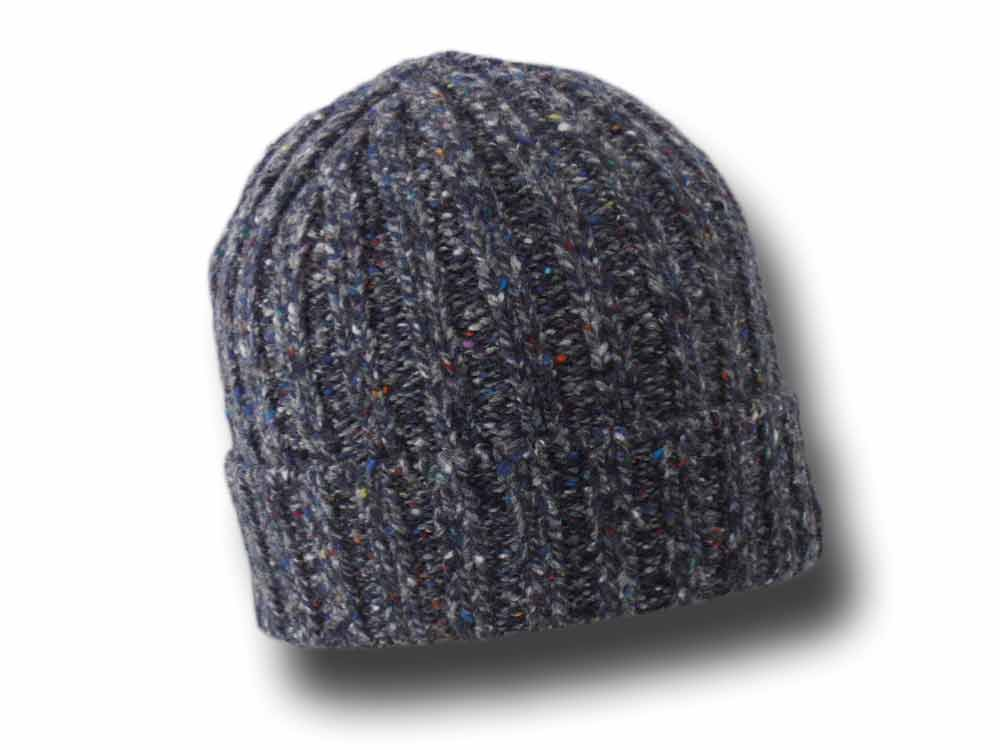 Irelandseye unisex Irish wool ribbed hat Blue