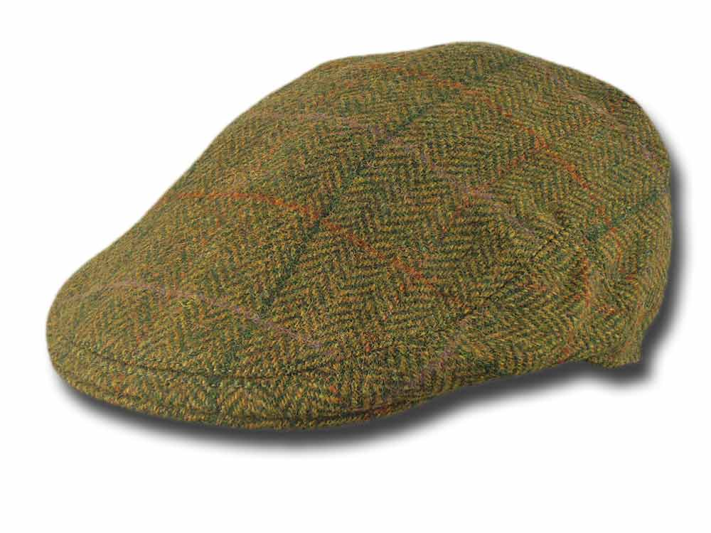 Lock & Co. Fairway Herringbone FlatCap Grün