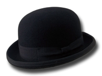 B2B Bowler hat black wool felt Pack 12 pcs