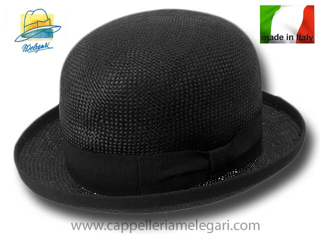 Viscose fiber bowler hat Black