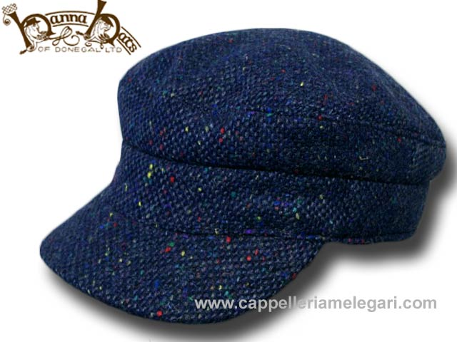 Hanna Hats Berretto irlandese Skipper tweed ca