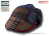 Flat patchwork cap Curragh donegal Irish tweed