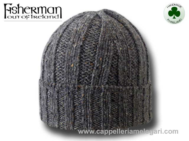 Fisherman Beanie Unisex hat Irish Donegal Grey