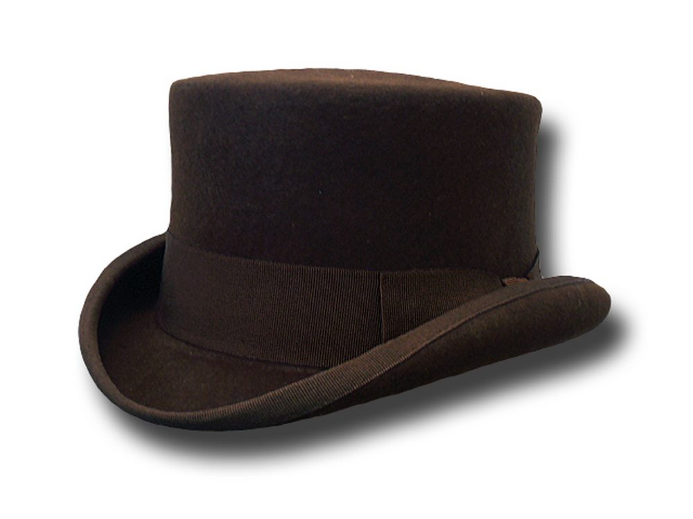 Western Half Top Hat Stagecoach Brown