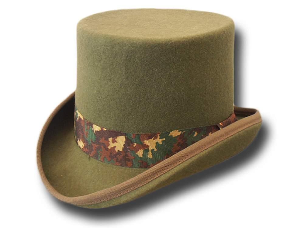 Cappello a cilindro camuflage in feltro di lan ec60ce7e5672