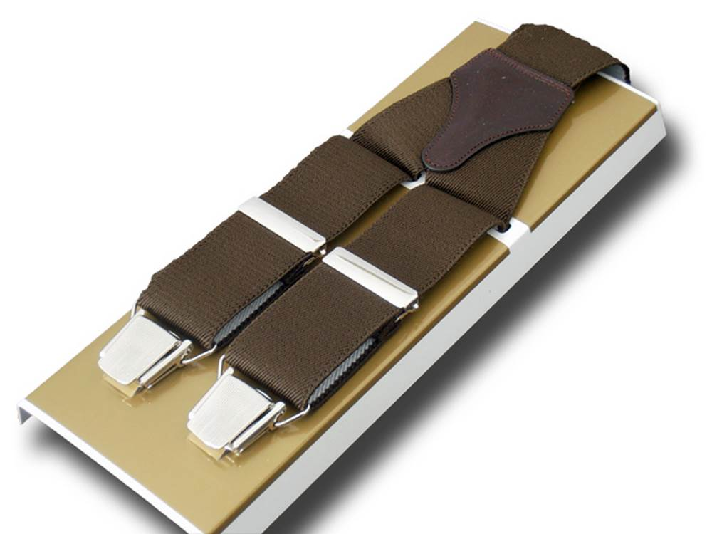 Paris Suspenders wide men Brown