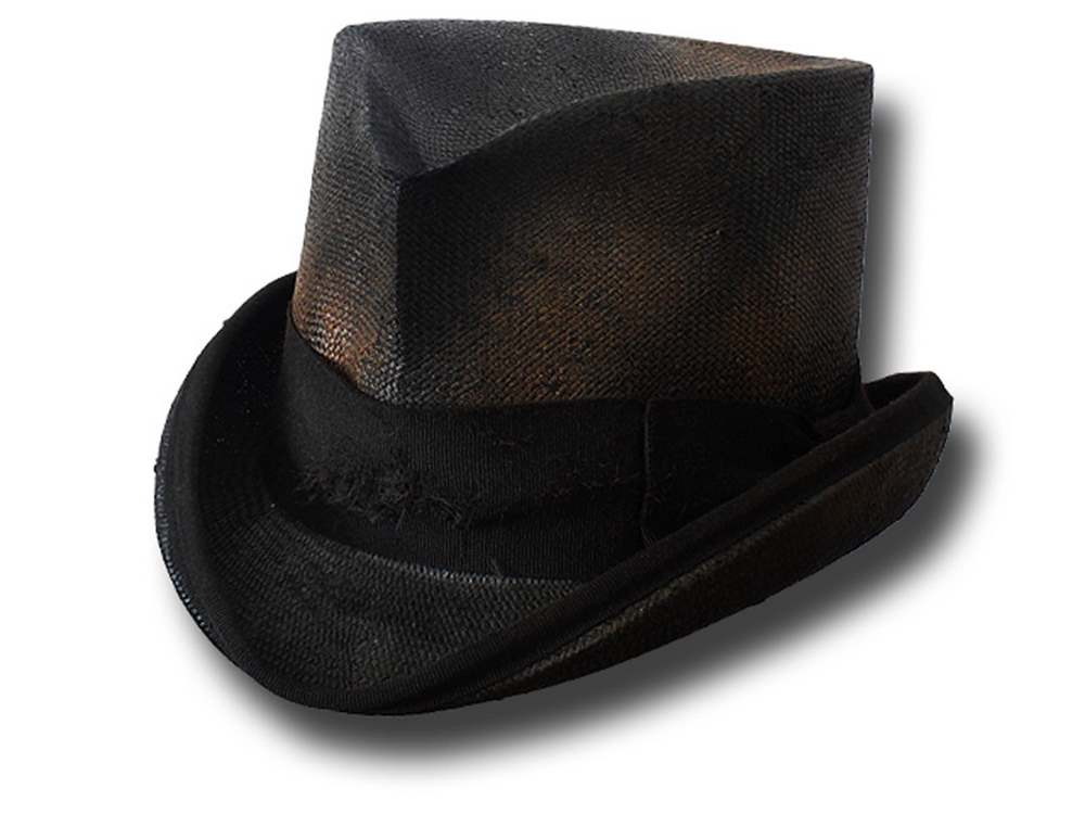Summer straw Western Dusty Top Hat Black