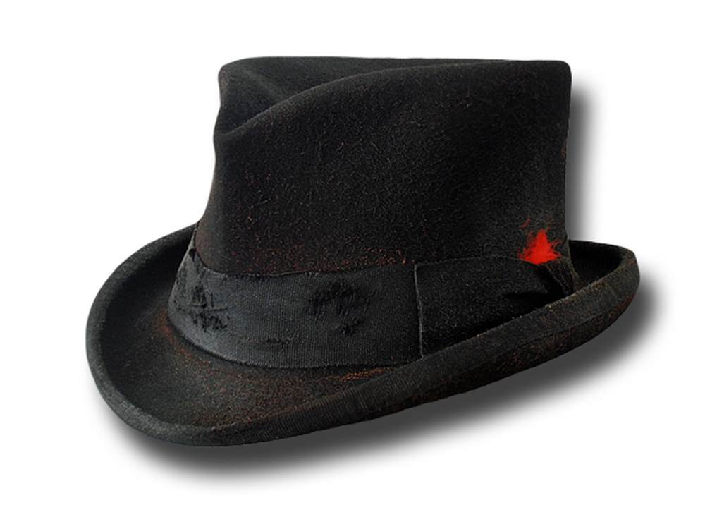 Western half top hat Stagecoach Dusty Black