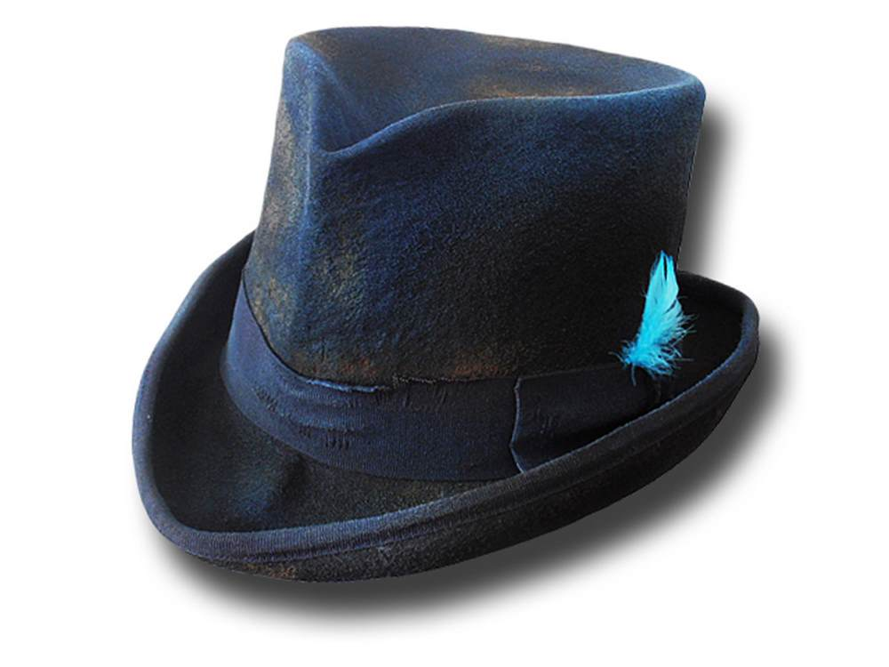 Cappello a cilindro Western Dusty Top Hat Blu