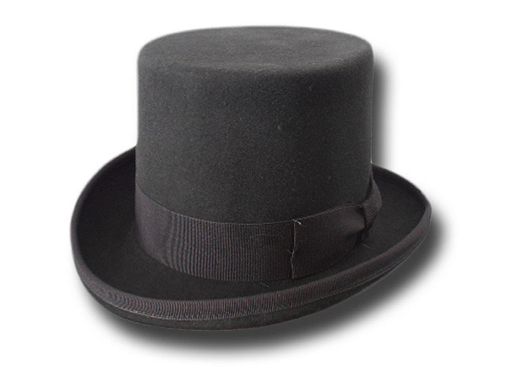 Cappello a cilindro in feltro di lana grigio scuro  20db326fb495
