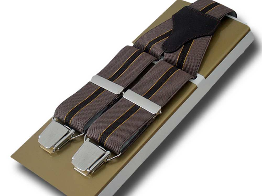 Suspenders wide men Paris Regimental Light bro