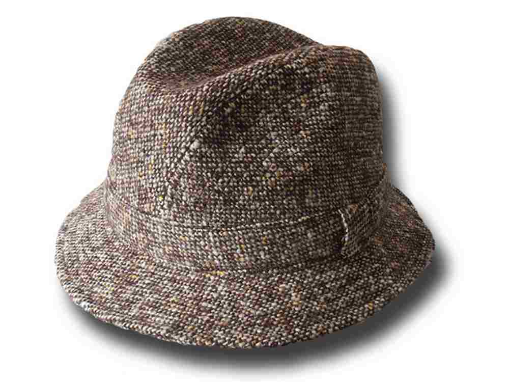 Cappello Trilby tweed ala 4,5 Ispettore Clouse