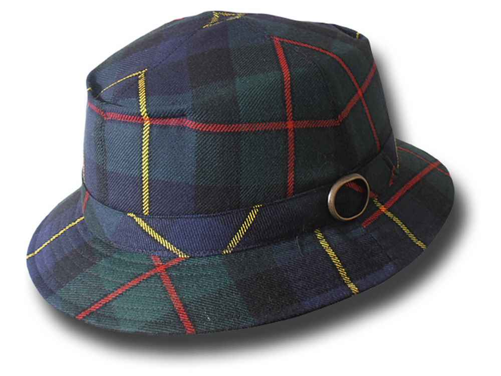 Ellery Queen Hat wool tartan