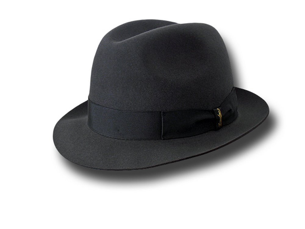 Borsalino Trilby Marengo hat brim 4,5 cm unlined Grey