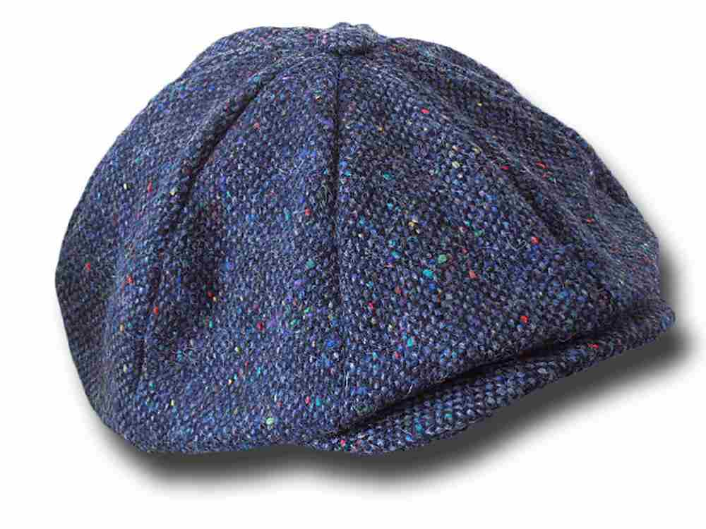 Newsboy 8 pieces Hanna Hats tweed Cap Blue