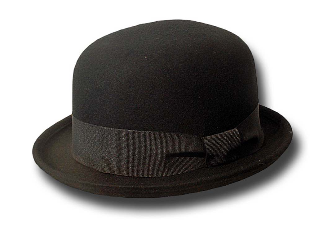 Wool felt basic bowler hat