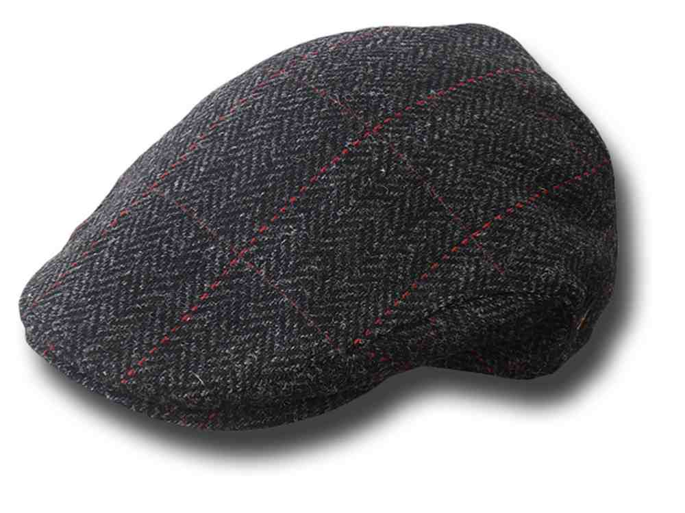 Berretto piatto Irish Mucros tweed cap grigio