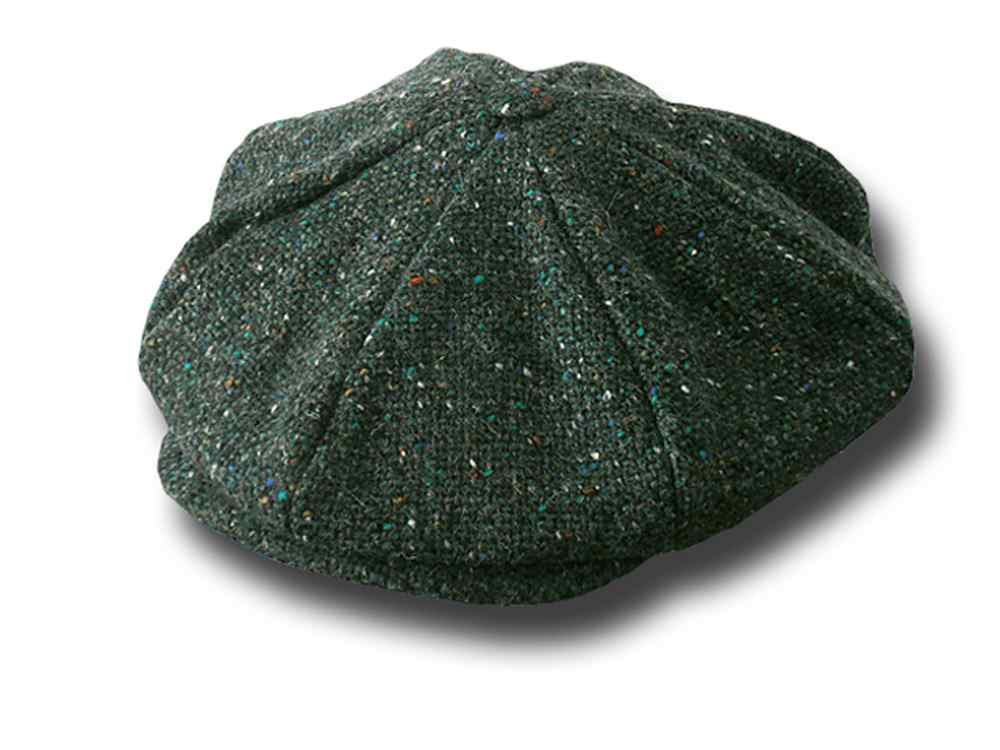 Gatsby tweed Cap 8 pieces Hanna Hats Green