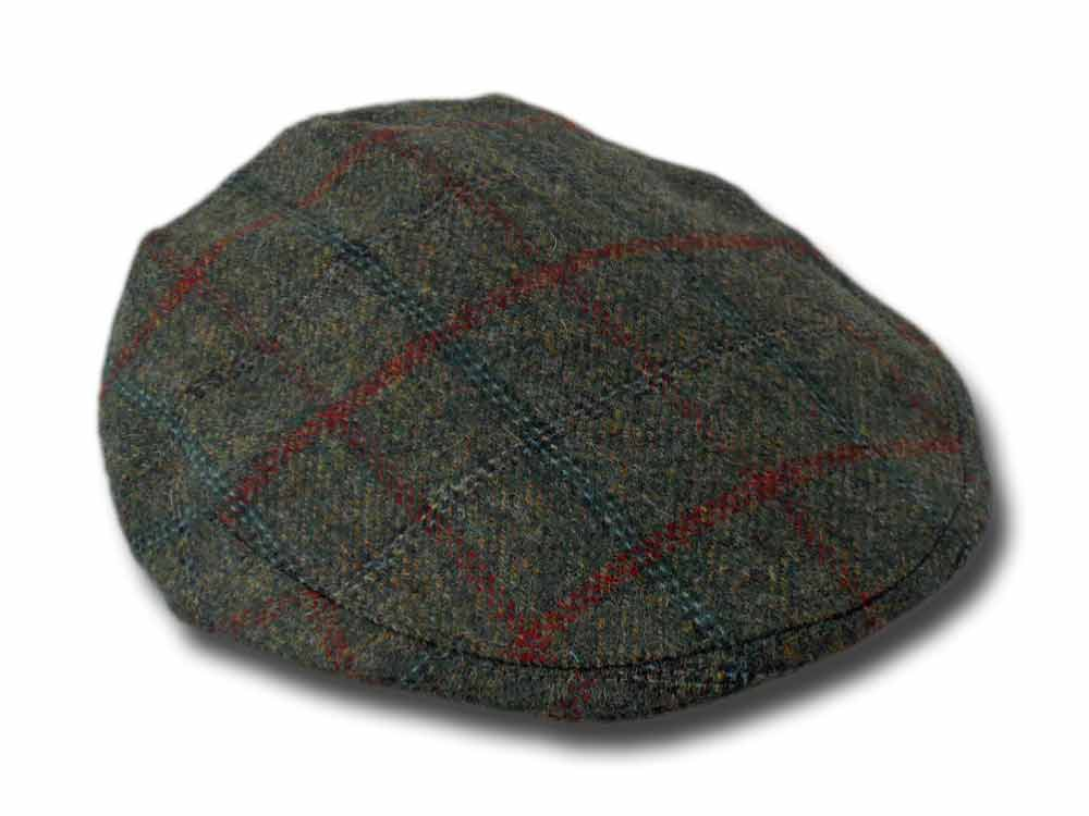 Berretto piatto tweed Inglese Lawrence & Foste