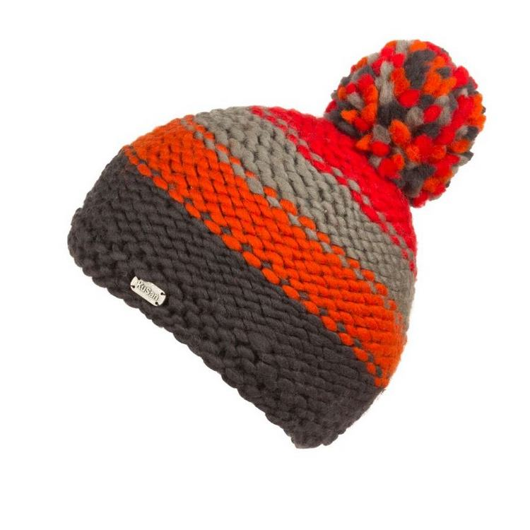 Kusan London Berretto lana righe Multi Bobble