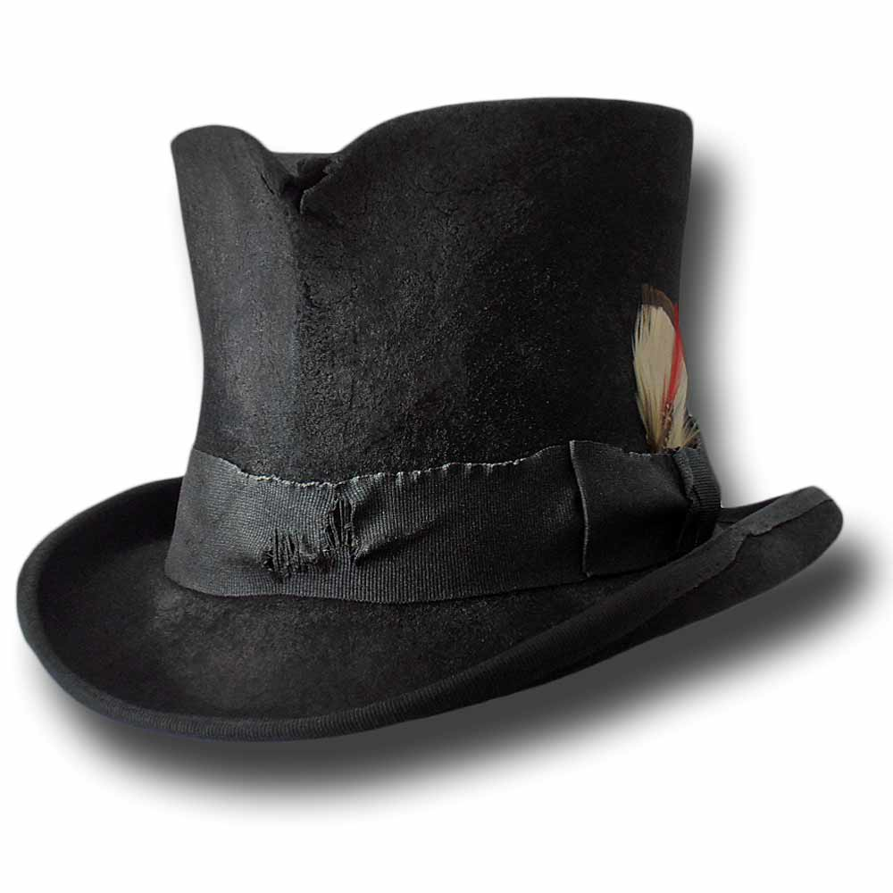 Cappello a cilindro Western Dusty Top Hat Nero