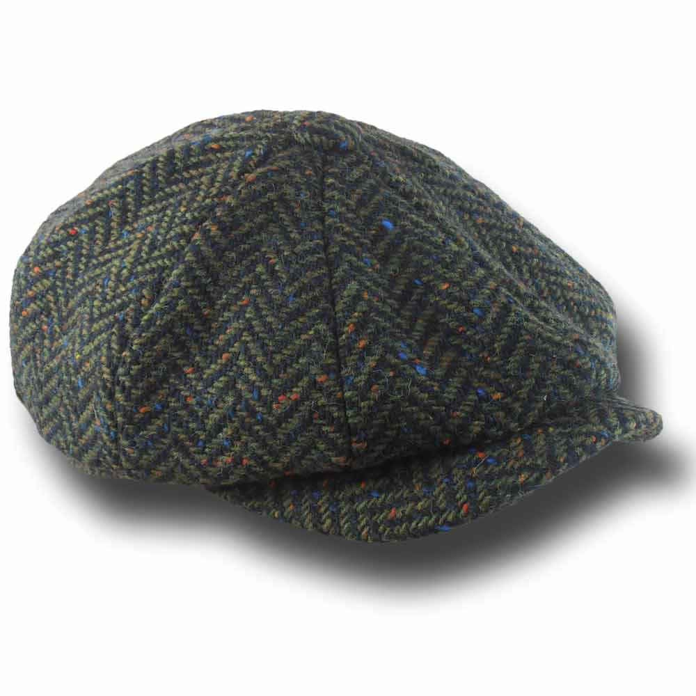 Hatman of Ireland Scholar Harris tweed Cap Gre 490a95d89055