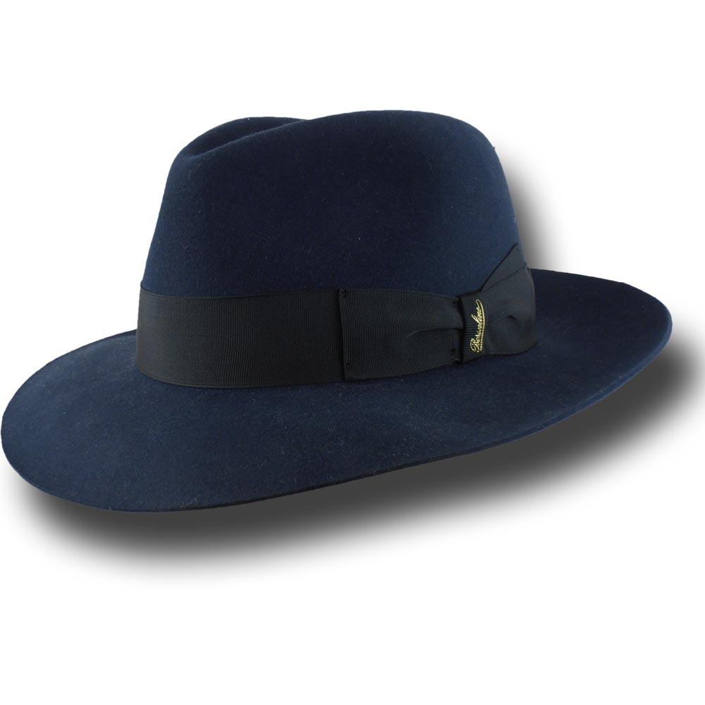Borsalino Cappello Fedora Alessandria sfoderato Blu f01694be0c89